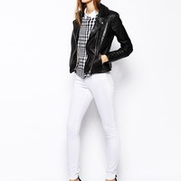 ASOS Ridley High waist Ultra Skinny Jeans in White