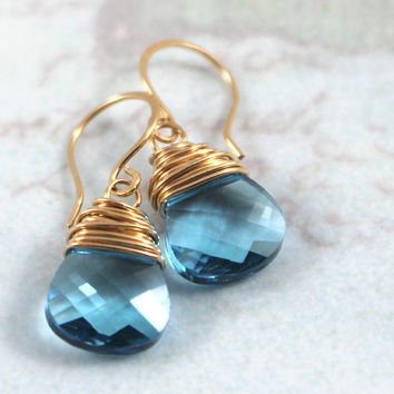 Set of 8: Choose from 7 Colors, Bridesmaid Jewelry Gift, Swarovski Crystal & Sterling Silver Wire Wrapped Earrings