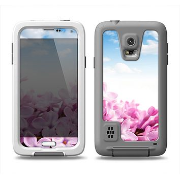 The Blue Sky Pink Flower Field Samsung Galaxy S5 LifeProof Fre Case Skin Set