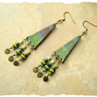 Bohemian Earrings, Gypsy Tribal Clay Earrings, Hippie earrings, Boho Fashion, Polymer clay, Boho style Me, Kaye Kraus