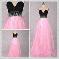 Charming Sweetheart A-line Floor-length Beading Prom Dress
