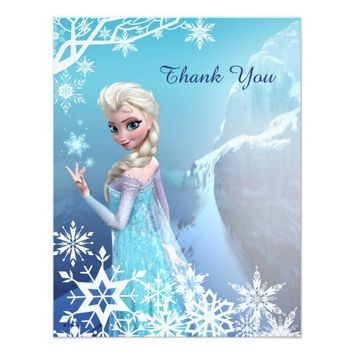Frozen Elsa Thank You 4.25x5.5 Paper Invitation Card