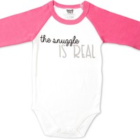 The Snuggle is Real 3/4 Sleeve Onesuit