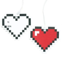 8 Bit Heart Gift Tags