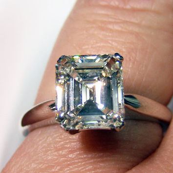 204ct Square Emerald Asscher Cut VINTAGE ESTATE by TreasurlybyDima
