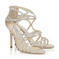Designer Metallic Sandals with Crystals | Cruise 2013 | JIMMY CHOO Sandals