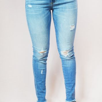 frayed around the edges jeans - light wash