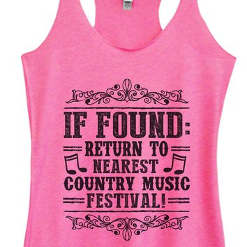 Womens Tri-Blend Tank Top - If Found Return To Nearest Country Music Festival