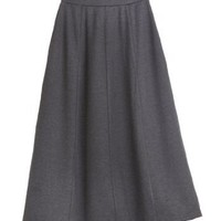 Stretch ponte knit skirt