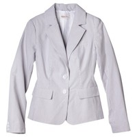 Merona® Women's Seersucker Jacket - Grey/White