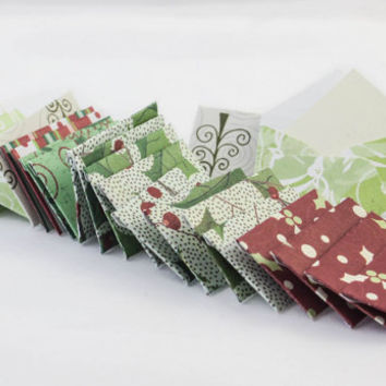 Mini Christmas gift tags or envelopes with tiny note cards 1x1.5""