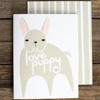 Love Puppy Greeting Card