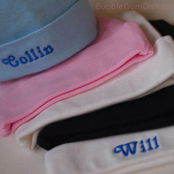 Newborn Baby Hat Custom Embroidery Personalized Name for Infants