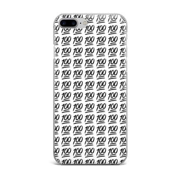 BLACK KEEP IT 100 EMOJI CUSTOM IPHONE CASE