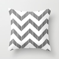 barcode/chevron Throw Pillow by megan marking systems