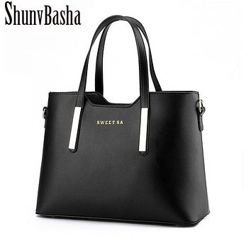 Shunvbasha Designer Women Handbag Female PU Leather Bags Handbags Ladies Portable Shoulder Bag Office Ladies Hobos Bag Totes