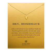 """Dogeared Hey , Homeslice Friends Pizza 16"""" Boxed Necklace (gold-plated-silver)"""