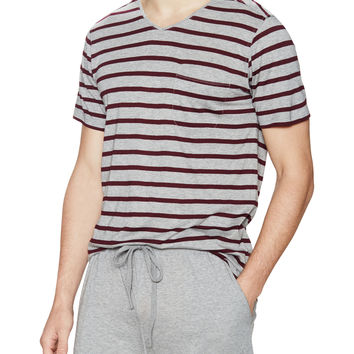 Daniel Buchler Men's Striped Short Sleeve Tee -