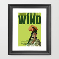 Gone With The Wind Framed Art Print by FunnyFaceArt | Society6