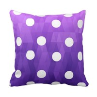 Vivid polka dots big white purple by healing love