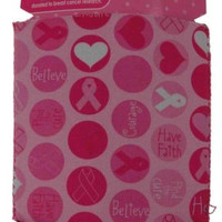 Lot of 9 Breast Cancer Pink Fight For The Cure Can Insulator Cooler Koozie Dots