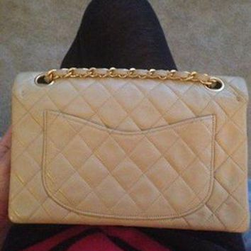 Authentic Chanel Vintage Lambskin Small Shoulder Bag - Beauty Ticks