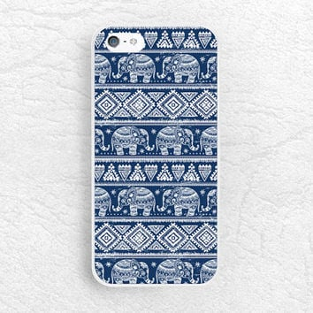 Aztec Elephant pattern Navy blue phone case for iPhone 6 5 5s, LG g3 Nexus 5, HTC One M9 M8, Sony Z3 compact, Moto X Moto G, Samsung S6 -P29