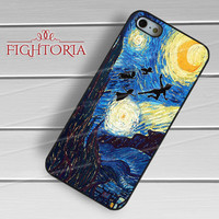 Disney art peter pan flying on the painting -EDH for iPhone 4/4S/5/5S/5C/6/6+,samsung S3/S4/S5/S6 Regular/S6 Edge,samsung note 3/4