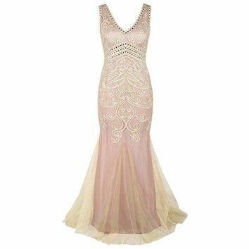 1920s Prom Gown Long Mermaid Formal Evening Dress