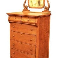Tiger oak dresser with original mirror: Architectural Salvage Online Store, Buy Altered Antiques | OGTstore.com