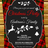Editable and Printable  Christmas Party Invitation  - Printable Christmas Invitation Templates -  Holiday Party Instant Download #DPI1323
