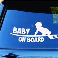 Baby On Board Surfboards Surfboard Surfing Car Truck Window