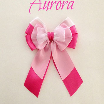 Disney inspired Aurora princess hair bow