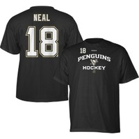 Reebok Soft-Touch Men's Pittsburgh Penguins James Neal #18 Player Replica Black T-Shirt - Dick's Sporting Goods