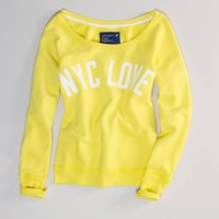 NYC Fleece Popover | American Eagle Outfitters