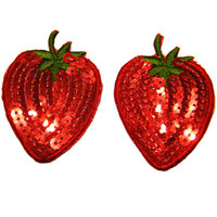 Strawberry Sequined Embroidery Pasties