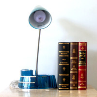 Blue Goose neck Desk Lamp Dorm Decor