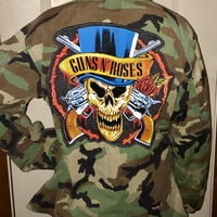 Guns n Roses vintage Marines Camo Jacket with patch unisex size medium/large