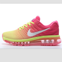"""NIKE"" Trending Fashion Casual Sports Shoes AirMax section Pink yellow"