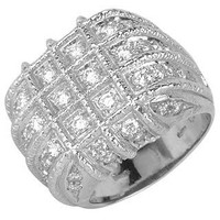 Torrini Designer Rings Wallstreet - 18K White Gold Diamond Ring