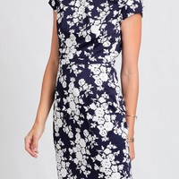 Serita Floral Midi Dress By Poppy Lux