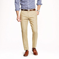 J.Crew Mens Ludlow Slim Suit Pant In Irish Linen