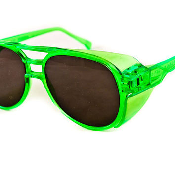 Neon Vintage Sunglasses Day Glow Geek Chic by goodmerchants