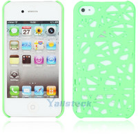 Hot Bird's Nest Style Plastic Hard Case Cover for iPhone 4 4G 4S Real Green