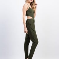 Slinky Open Back Jumpsuit