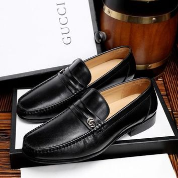 Gucci Men's Business Leather Shoes