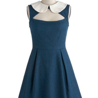 Calm, Cobalt, and Collected Dress