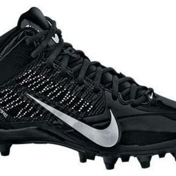 Nike ALPHA PRO 3/4 TD Men's Football Cleats (16 D(M) US, BLACK///METALLIC SILVER)