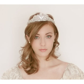 Soft Ribbon Tie Tiara Mother of Pearl by EricaElizabethDesign