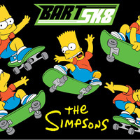 Fun Rugs Simpsons-MP Collection Bart Sk8-Black Area Rug